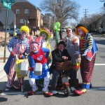 Sir Toony and his clown friends before the parade