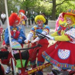 Clowns on a Conference Bike