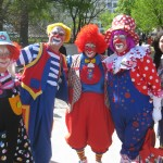 Clowns before the parade