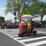 Clowns on a converence bike